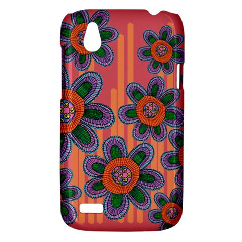 Colorful Floral Dream HTC Desire V (T328W) Hardshell Case