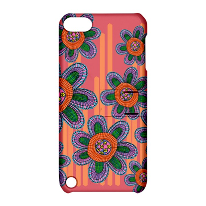 Colorful Floral Dream Apple iPod Touch 5 Hardshell Case with Stand