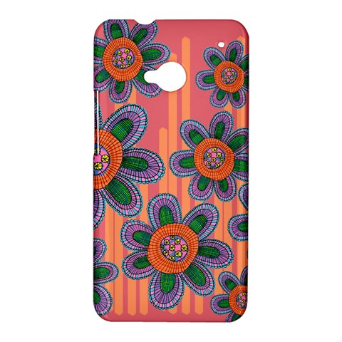 Colorful Floral Dream HTC One M7 Hardshell Case
