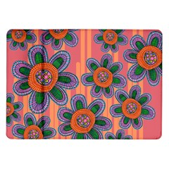 Colorful Floral Dream Samsung Galaxy Tab 10 1  P7500 Flip Case