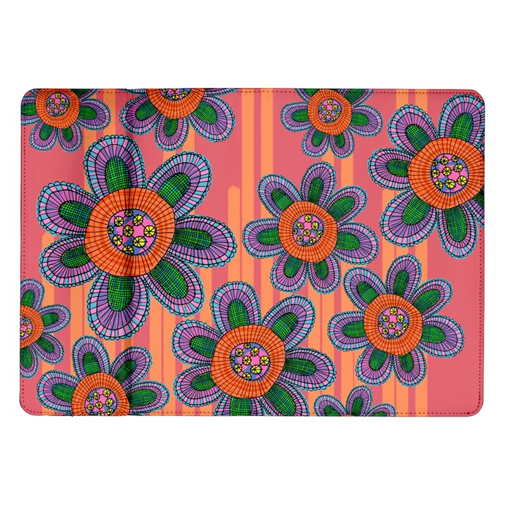 Colorful Floral Dream Samsung Galaxy Tab 10.1  P7500 Flip Case