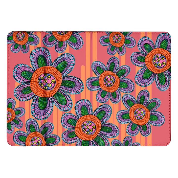 Colorful Floral Dream Samsung Galaxy Tab 8.9  P7300 Flip Case