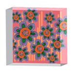 Colorful Floral Dream 5  x 5  Acrylic Photo Blocks Front