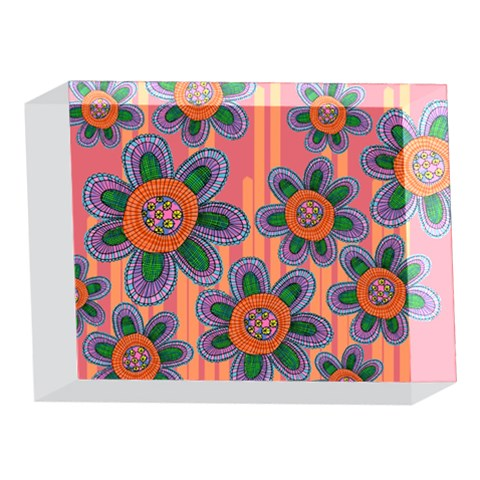 Colorful Floral Dream 5 x 7  Acrylic Photo Blocks