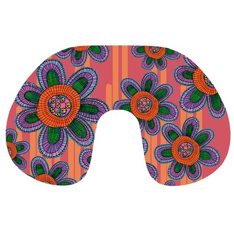 Colorful Floral Dream Travel Neck Pillows