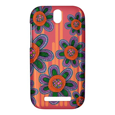 Colorful Floral Dream HTC One SV Hardshell Case