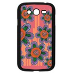 Colorful Floral Dream Samsung Galaxy Grand DUOS I9082 Case (Black) Front