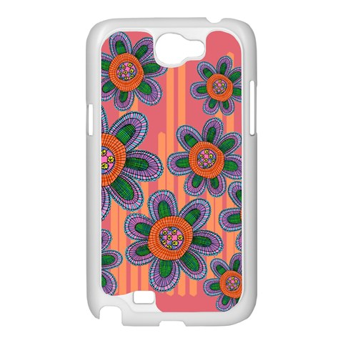 Colorful Floral Dream Samsung Galaxy Note 2 Case (White)