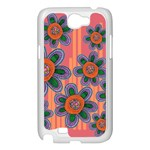 Colorful Floral Dream Samsung Galaxy Note 2 Case (White) Front