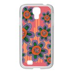 Colorful Floral Dream Samsung GALAXY S4 I9500/ I9505 Case (White) Front