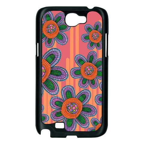 Colorful Floral Dream Samsung Galaxy Note 2 Case (Black)