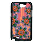 Colorful Floral Dream Samsung Galaxy Note 2 Case (Black) Front