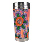 Colorful Floral Dream Stainless Steel Travel Tumblers Left