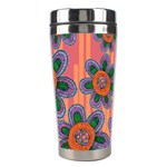 Colorful Floral Dream Stainless Steel Travel Tumblers Center