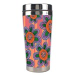 Colorful Floral Dream Stainless Steel Travel Tumblers Right
