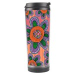 Colorful Floral Dream Travel Tumbler Left