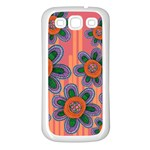 Colorful Floral Dream Samsung Galaxy S3 Back Case (White) Front