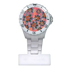 Colorful Floral Dream Plastic Nurses Watch