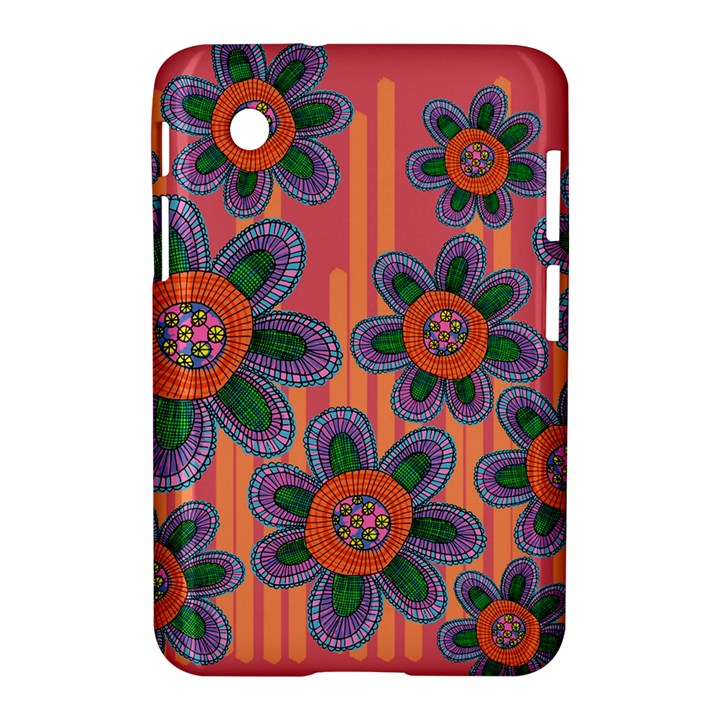 Colorful Floral Dream Samsung Galaxy Tab 2 (7 ) P3100 Hardshell Case