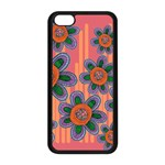 Colorful Floral Dream Apple iPhone 5C Seamless Case (Black) Front