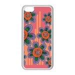 Colorful Floral Dream Apple iPhone 5C Seamless Case (White) Front