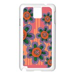 Colorful Floral Dream Samsung Galaxy Note 3 N9005 Case (White) Front
