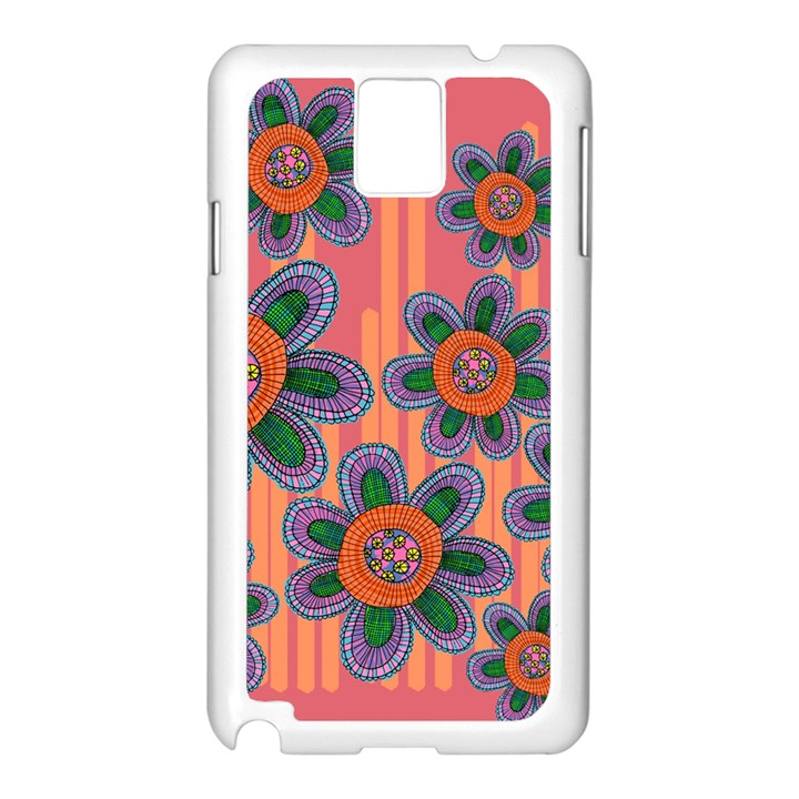 Colorful Floral Dream Samsung Galaxy Note 3 N9005 Case (White)