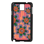 Colorful Floral Dream Samsung Galaxy Note 3 N9005 Case (Black) Front
