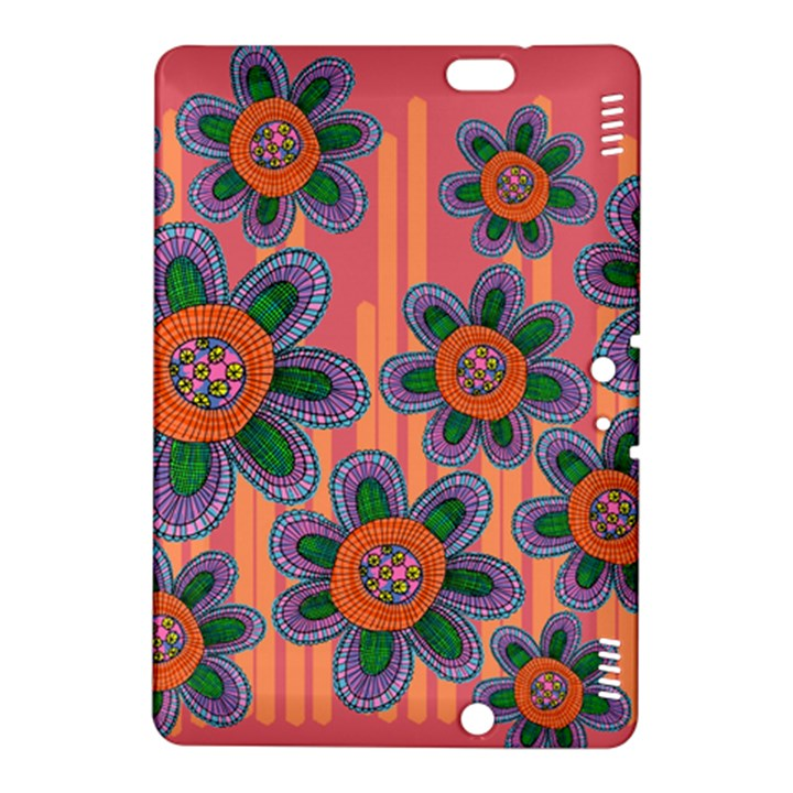 Colorful Floral Dream Kindle Fire HDX 8.9  Hardshell Case