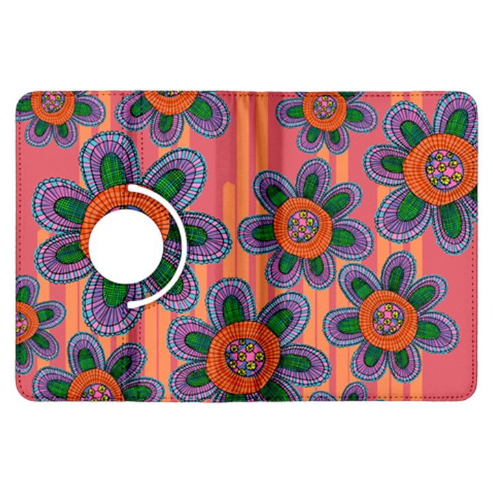 Colorful Floral Dream Kindle Fire HDX Flip 360 Case