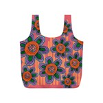 Colorful Floral Dream Full Print Recycle Bags (S)  Back