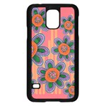 Colorful Floral Dream Samsung Galaxy S5 Case (Black) Front
