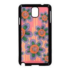 Colorful Floral Dream Samsung Galaxy Note 3 Neo Hardshell Case (Black)