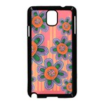 Colorful Floral Dream Samsung Galaxy Note 3 Neo Hardshell Case (Black) Front