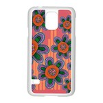 Colorful Floral Dream Samsung Galaxy S5 Case (White) Front