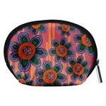 Colorful Floral Dream Accessory Pouches (Medium)  Back