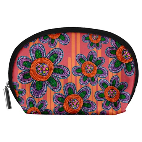 Colorful Floral Dream Accessory Pouches (Large)