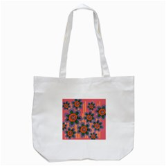 Colorful Floral Dream Tote Bag (White)