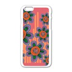 Colorful Floral Dream Apple iPhone 6/6S White Enamel Case Front