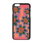 Colorful Floral Dream Apple iPhone 6/6S Black Enamel Case Front