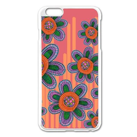 Colorful Floral Dream Apple iPhone 6 Plus/6S Plus Enamel White Case