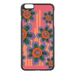 Colorful Floral Dream Apple iPhone 6 Plus/6S Plus Black Enamel Case