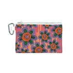 Colorful Floral Dream Canvas Cosmetic Bag (S) Front