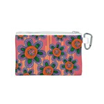 Colorful Floral Dream Canvas Cosmetic Bag (S) Back