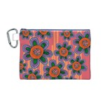 Colorful Floral Dream Canvas Cosmetic Bag (M) Front