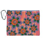 Colorful Floral Dream Canvas Cosmetic Bag (XL) Front