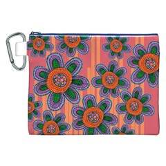 Colorful Floral Dream Canvas Cosmetic Bag (xxl)