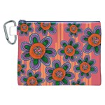 Colorful Floral Dream Canvas Cosmetic Bag (XXL) Front