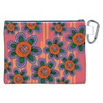 Colorful Floral Dream Canvas Cosmetic Bag (XXL) Back
