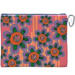 Colorful Floral Dream Canvas Cosmetic Bag (XXXL) Back